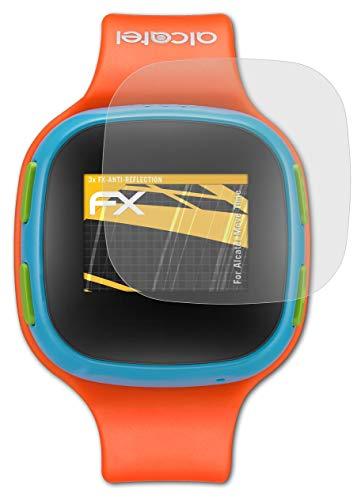 atFoliX Panzerfolie kompatibel mit Alcatel Move Time Schutzfolie, entspiegelnde & stoßdämpfende FX Folie (3X)