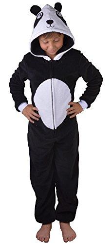 Loungeable Kinder Fleece-Einteiler oder Bademantel Gr. 12 Jahre, panda