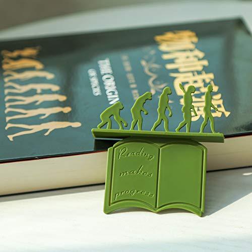 3D Stereo Kreative Lesezeichen, Neuheit Lustige Lesezeichen, Evolutionstheorie Lesezeichen, Lesen Lesezeichen für Teenager, Jungen und Mädchen