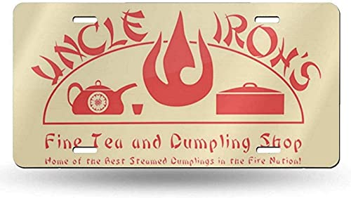 Luolei License Plate Metal Aluminum, Uncle Iroh's Fine Tea Shop 2 License-Plate Vanity Auto Car Tag for Decoration 6' x 12'