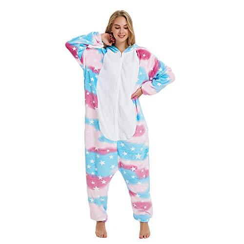 KiKa Monkey Flanela Unicornio Cartoon Animal Novedad Navidad Pijama Cosplay (XL, Estrella)