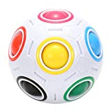 Twister.CK Magic Rainbow Ball Puzzle Speed Cube Juguete Educativo para niños Puzzle Ball Stress Relief para Adolescentes Adultos