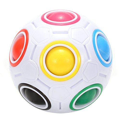 Twister.CK Magic Rainbow Ball Puzzle Speed Cube Educational Toy for Children Puzzle Ball Stress Relief for Teenagers Adult