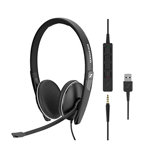Sennheiser SC 165 USB (508317) - Double-Sided (Binaural) Headset for Business Professionals | with HD Stereo Sound, Noise-Cancelling Microphone, & USB Connector (Black)