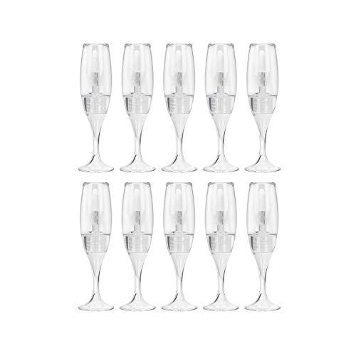 10 Piezas 8 ml / 0,27 oz Creativo Mini Copa de Vino Transparente en Forma de Tubo de Brillo de Labios vacío Viales de Esmalte de Labios (Transparente)