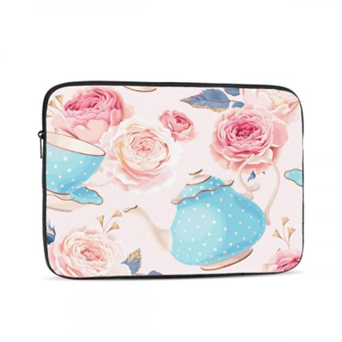 Mac Air Cover Delicate Elegant Teacup MacBook Air Protective Cover Multi-Color & Size Choices 10/12/13/15/17 Inch Computer Tablet Briefcase Carrying Bag