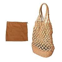 VALICLUD 織ショルダーバッグ手作りストローバッグ釣りネットハンドバッグクロスボディバッグ財布財布女の子旅行ビーチ