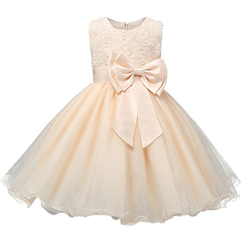 Discoball Girls Flower Dress Formal Wedding Bridesmaid Party Christening...