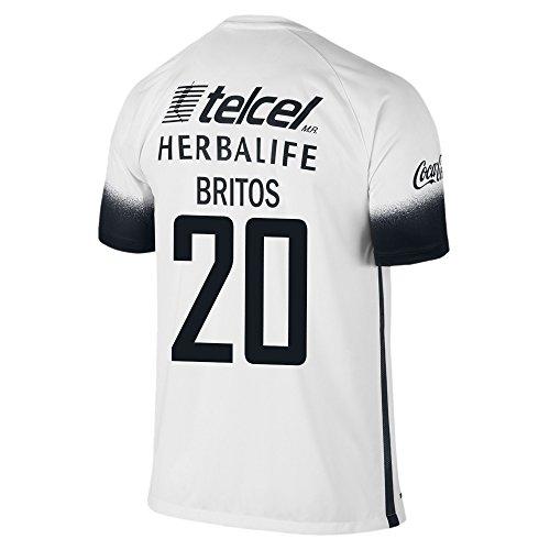 Nike Britos #20 Pumas UNAM 2016 Stadium Third Jersey (YXS) White, Black
