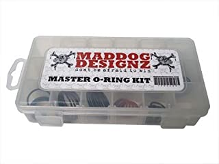 Maddog Master Paintball O-Ring Replacement Kit - 85 Total O-Rings with Storage Case