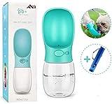 Flybiz Botella de Agua para Perro, 350ml Antibacteriano Botella Portátil de Agua Potable para Perros y Gatos al Aire Libre, a Prueba de Fugas, Resina Plástica ABS Ambiental (Azul)