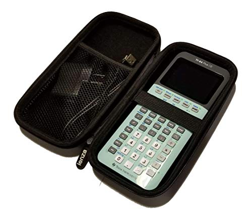 New! Graphing Calculator Hard Protective Carrying Case for Texas Instruments TI-84 Plus Silver Edition TI 89 TI Nspire CX CAS for USB Cable, AC Charger, Manual, Pencil, Ruler & Accessories