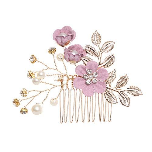 xingguang Tocado de novia con cristales hechos a mano y perlas de...