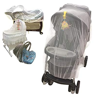 Croc n frog Mosquito Net for Baby Stroller, Crib, Pack and Play, Bassinet, Playpen   Mosquiteros para Cunas De Bebes   Large, Elastic, and Breathable