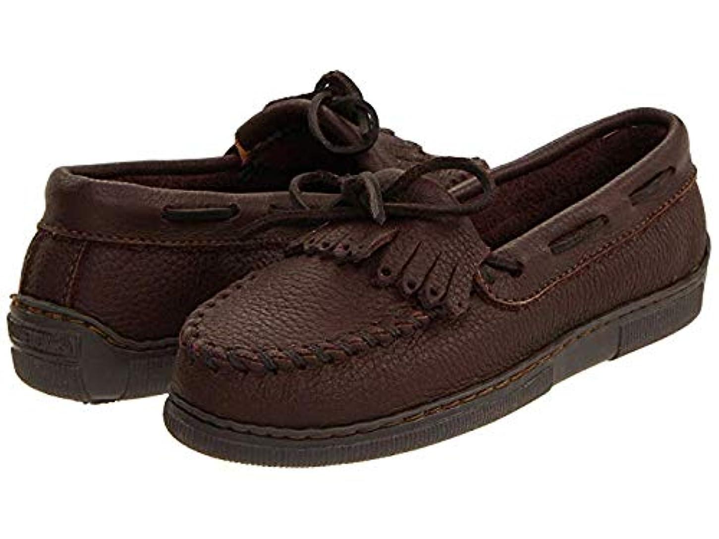 命令ジョグ地質学レディースローファー?靴 Moosehide Fringed Kilty Chocolate Moosehide (22.5cm) W [並行輸入品]