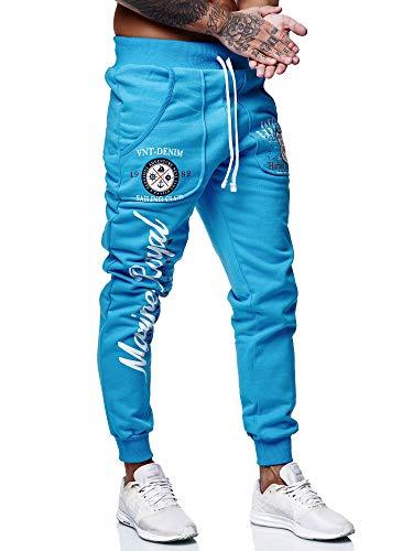 Code47 Herren Jogginghose Sporthose Männer Trainingshose Sweatpants 3628 Türkis M