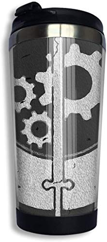 Fallout Brotherhood of Steel Sigil - Vaso de acero inoxidable con aislamiento al vacío, 13 onzas