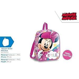 41O9YLsP8fL. SS300  - Minnie Mouse 29cm Mochila Tiempo Libre y Sportwear Infantil, Juventud Unisex, Multicolor (Multicolor), 29 cm