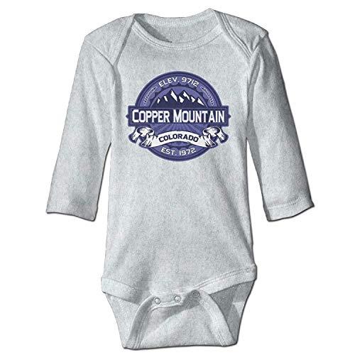 Unisex Infant Bodysuits Copper Mountain Midnight Boys Babysuit Long Sleeve Jumpsuit Sunsuit Outfit Ash