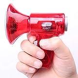 SADA72 El más pequeño Cambiador de Voz del Mundo, 3 Efectos cambiantes de Voz, Juguete Cambiador de Voz, megáfono, Efectos de Sonido, Luces LED de plástico, Rojo, Tamaño Libre