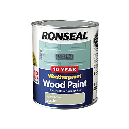 Ronseal ASINOAUK30K - Pintura impermeable (10 años, satinada verde primavera, 750 ml)