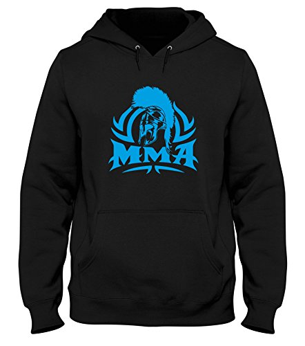 Speed Shirt Sudadera con Capucha Hombre Negro T1253 MMA Spartan Crest