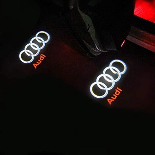 Auto Tür Dekorative Eintrag Logo Projektor Lichter für A6L A4 A1 A5 A6 A7 A6L R8 A4L A3 Auto LED Projektor Willkommen Licht 4 Stück…