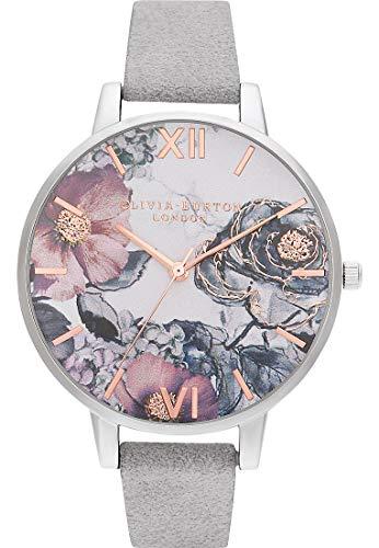 Olivia Burton Reloj Analógico para Mujer de Cuarzo con Correa en Acero Inoxidable OB16VM23