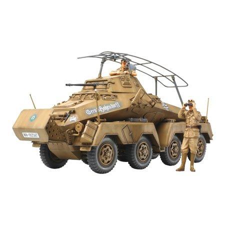 タミヤ 1/35 ミリタリーミニチュアシリーズ No.297 ドイツ陸軍 8輪重装甲車 Sd.Kfz.232 アフリカ軍団 プラ...
