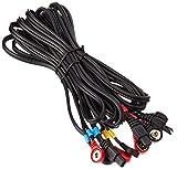 COMPEX Cables a presión SNAP, color negro, talla única, pack de 4