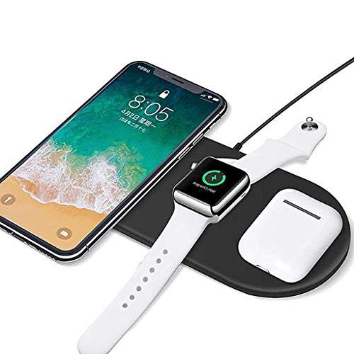 Inalámbrico Cargando Almohadilla 3 en 1 Inalámbrico Cargando Estar Muelle para iPhone 12/12 Pro MAX / 11 11pro 11pro MAX X XS XR XS MAX 8 8 Plus/Apple Watch 6 5 4 3 2 1 / Airpods