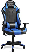 YITAHOME Massage Gaming Chair Big and Tall Heavy Duty 350lbs Ergonomic Video Game Chair High Back Office Computer Chair Racing Style with Headrest and Lumbar Support,Blue