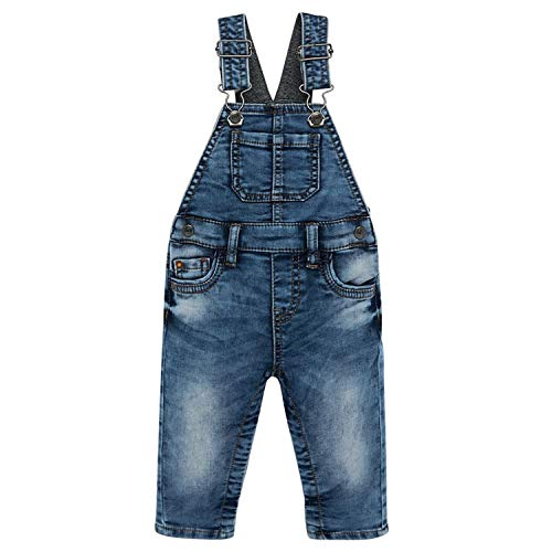 Mayoral - Baby Jungen Jeans Latzhose Thermohose Washed-Look, blau - 2.624, Größe 98