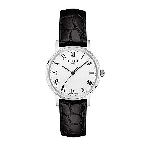 Tissot Damen Analog Quarz Everytime Small Armbanduhr mit Leder Armband T1092101603300