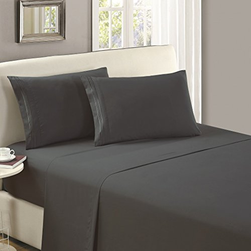 Mellanni Luxury Flat Sheet - Brushed Microfiber 1800 Bedding Top Sheet...