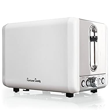 Fortune Candy KST009 2 Slices Toaster Bagel Toaster With Extra Wide Slot