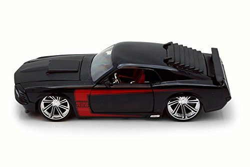 Jada 1970 Ford Mustang Boss 429, Black 90348 - 1/24 Scale Diecast Model Toy Car