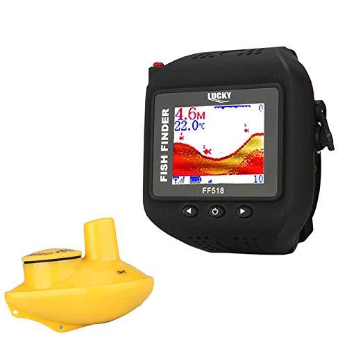 Detector portátil Fish Detector-Tipo del reloj inteligente a prueba de agua inalámbrico buscador de los pescados del sonar visual HD Pesca, for la pesca en mar, barco de pesca, pesca en el hielo. kyma