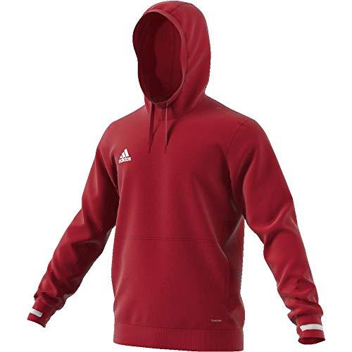 adidas Herren Team 19 Hoodie, Power Red/White, M