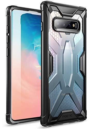 Galaxy S10 Case, Poetic Premium Hybrid Protective Clear Bumper Cover, Rugged Lightweight, Military Grade Drop Tested, Affinity Series, for Samsung Galaxy S10 6.1 inch (2019), Frost Clear/Black