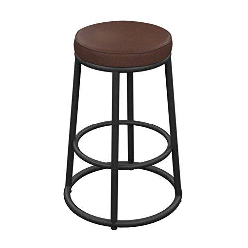 Zfggd tabouret de bar en Bois Massif en Fer forgé, Tabouret de Bar rétro américain (Taille : 35cm*42cm*65cm)