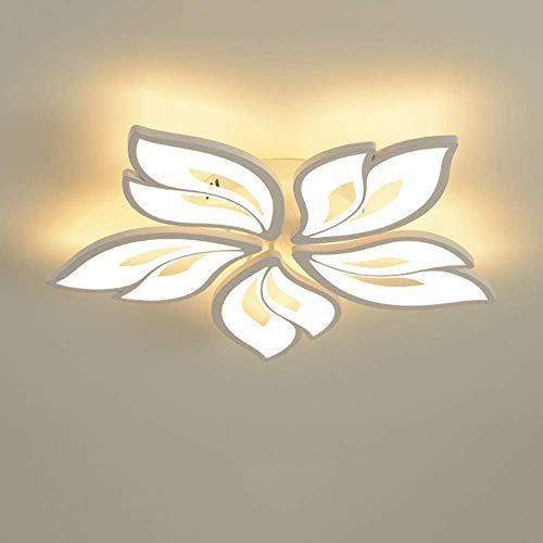 YSNJG Modern LED Blume Deckenleuchte Dimmbar Weiß Deckenlampe Kreative Design Wohnzimmerlampe Mit Fernbedienung Acryl Lampenschirm Schlafzimmer Dekorative Licht (5 Köpfe) [Energieklasse A++]