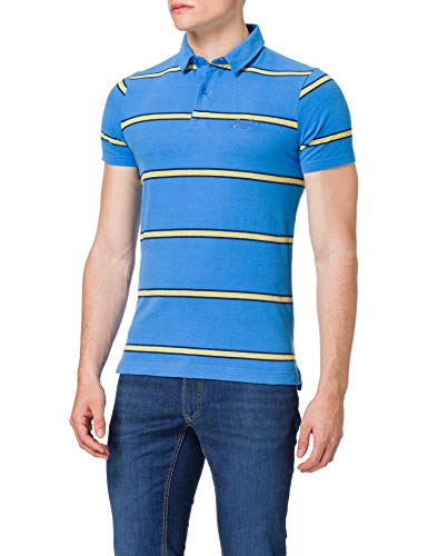 Superdry M1110222A Polo, Neptune Blue Stripe, XL Homme