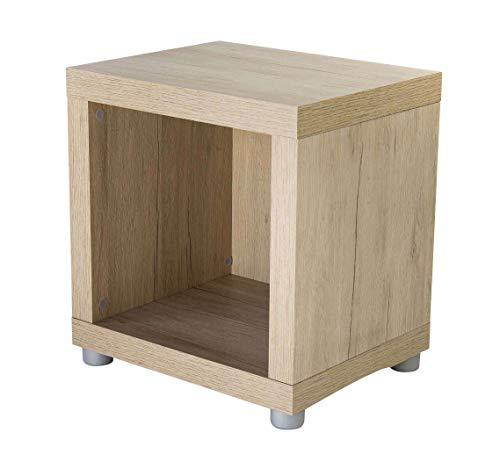 AVANTI TRENDSTORE - Vito - Scaffale con 1 scompartimento, in Legno Laminato di Colore Quercia San Remo. Misure scompartimento 35x35 cm. Dimensioni Lap 44x46,8x35 cm