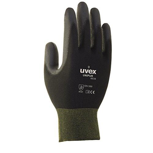 guanti lavoro goodyear Uvex Unipur 6639 - 10 paia di guanti da lavoro con rivestimento in PU. Guanti di protezione contro rischi di natura meccanica EN 388...