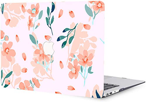 MacBook Pro 13 inch Case 2016-2020 Release A1706 A1708 A2289 A1989 A2159 A2251, Pink Flower Pattern Plastic Hard Shell Case Compatible with MacBook Pro 13'/13.3' with Touch Bar Touch ID - Pink