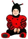 Costume per bambini, da coccinella Include 1 cappuccio, 1 tuta, di colore rosso e nero, con ali e piedi. da 6.a 12.mesi. Costume Coccinella 6/12 Mesi Neonato/a Primavera Carnevale Festa Party Travestimenti