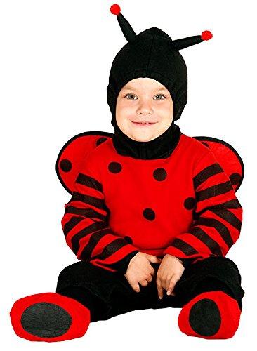 Guirca - Disfraz de mariquita, talla 6-12 meses, color rojo (85973)