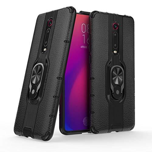MSK Funda para Xiaomi Mi 9T, funda híbrida de doble capa a prueba de golpes, ultra fina carcasa trasera antiarañazos, soporte giratorio 360 compatible con Xiaomi Mi 9T/Xiaomi Mi 9T Pro,Negro