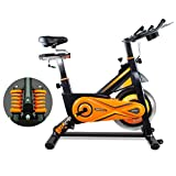 gridinlux. Trainer Alpine 8500. Bicicleta Spinning Pro Indoor. Volante de Inercia 25 kg, Nivel Avanzado, Sistema de Absorción de Impactos, Pantalla LCD, Fitness